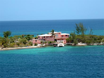 Bahamy, soukromá rezidence na vlastním ostrově