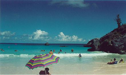 Bermudy, Horseshoe Bay, veřejná pláž