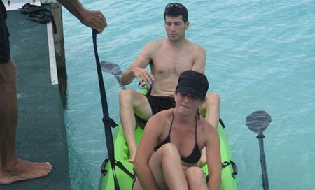 Kajmanské Ostrovy, plavba na kajaku