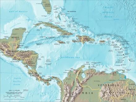 Karibik - Mapa