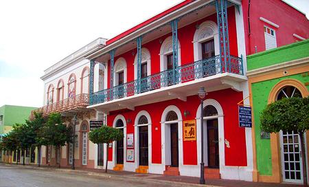 Portoriko, Ruiz Belvis St. Cabo Rojo, klasická stavba