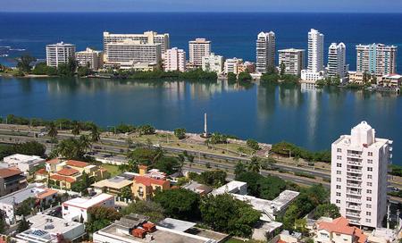 Portoriko, hlavní město San Juan z perspektivy